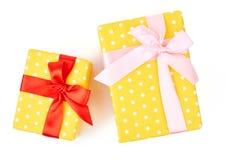 Duas caixas de presente diferentes dos tamanhos Imagem de Stock Royalty Free