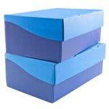 Duas caixas de sapata empilhadas Fotos de Stock