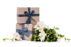 Duas caixas feitos a mão Fotografia de Stock Royalty Free