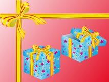 Duas caixas para presentes ilustração stock