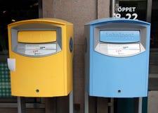 Duas caixas postais brilhantes Fotografia de Stock Royalty Free