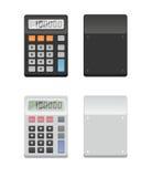Duas calculadoras - parte dianteira e parte traseira Imagens de Stock