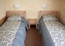 Duas camas Imagem de Stock