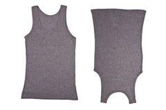 Duas camisas cinzentas Imagens de Stock