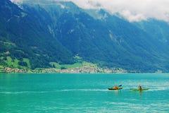 Duas canoas em um lago Fotografia de Stock