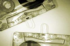 Duas cassetes de banda magnética Imagem de Stock Royalty Free