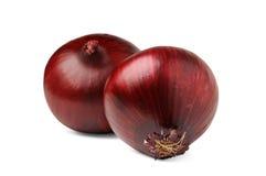 Duas cebolas vermelhas Fotos de Stock Royalty Free