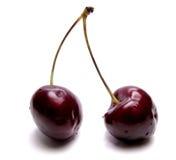Duas cerejas - um beijo doce Fotos de Stock Royalty Free