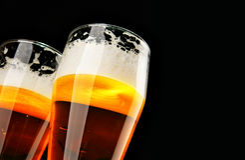Duas cervejas Fotos de Stock