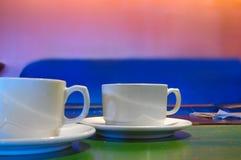 Duas chávenas de café Imagem de Stock
