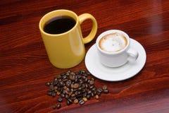 Duas chávenas de café 2 Imagens de Stock