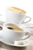 Duas chávenas de café Fotografia de Stock