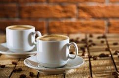 Duas chávenas de café Fotos de Stock