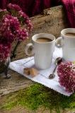 Duas chávenas de café Imagens de Stock