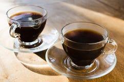 Duas chávenas de café Conceito do bom dia Imagem de Stock
