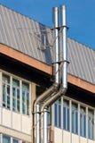 Duas chaminés da ventilação em de aço inoxidável Foto de Stock Royalty Free