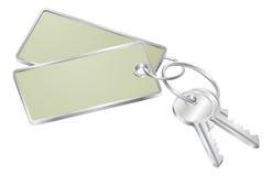 Duas chaves com o Tag em branco para o texto Fotos de Stock Royalty Free