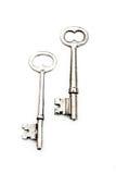 Duas chaves de esqueleto Imagens de Stock