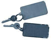 Duas chaves de quarto dos hotéis fotografia de stock