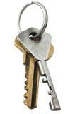 Duas chaves do metal Foto de Stock