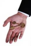 Duas chaves em uma palma Imagens de Stock