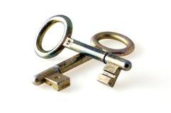 Duas chaves velhas Foto de Stock