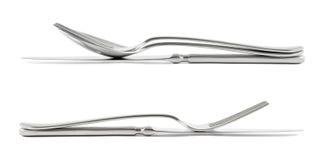 Duas composições da cutelaria isoladas Imagem de Stock