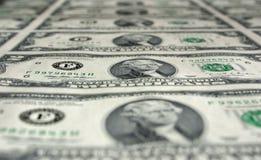 Duas contas de dólar Imagem de Stock Royalty Free