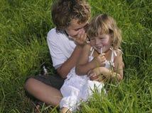 Duas crianças Imagens de Stock Royalty Free