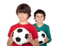 Duas crianças adoráveis Fotografia de Stock