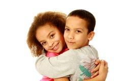 Duas crianças da raça misturada fotografia de stock royalty free