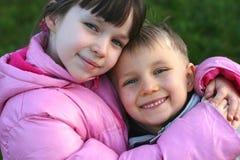 Duas crianças felizes Foto de Stock