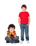 Duas crianças engraçadas Imagens de Stock Royalty Free