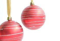 Duas decorações do Natal imagem de stock royalty free
