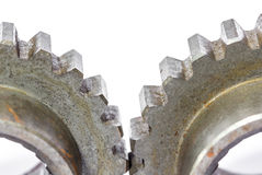 Duas engrenagens da roda denteada do metal Imagem de Stock Royalty Free