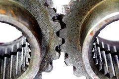 Duas engrenagens da roda denteada do metal Imagens de Stock Royalty Free