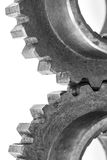 Duas engrenagens da roda denteada do metal Fotografia de Stock Royalty Free