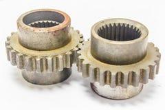 Duas engrenagens das rodas denteadas Imagem de Stock