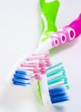 Duas escovas de dentes Foto de Stock Royalty Free