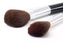 Duas escovas para a composição Fotos de Stock