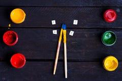 Duas escovas pequenas Fotos de Stock