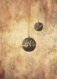 Duas esferas da ardósia com mensagem Fotos de Stock
