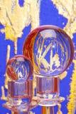 Duas esferas de cristal coloridas Fotos de Stock Royalty Free