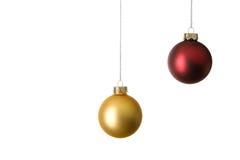 Duas esferas do Natal fotos de stock