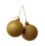 Duas esferas do ouro Foto de Stock Royalty Free