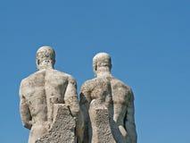 Duas estátuas imagens de stock royalty free