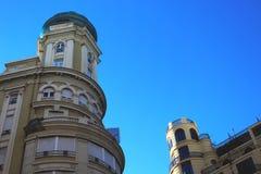 Duas estruturas originais em Valência foto de stock