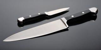 Duas facas de cozinha Imagens de Stock