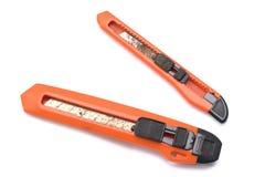 Duas facas de serviço público de tamanhos diferentes Imagens de Stock