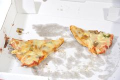 Duas fatias da pizza fotografia de stock
